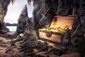 12359986-photo-de-coffre-au-tr-sor-ouverte-avec-de-l-or-brillant-dans-une-grotte